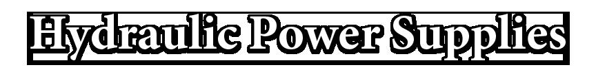 Hydraulic Power Supplies Header