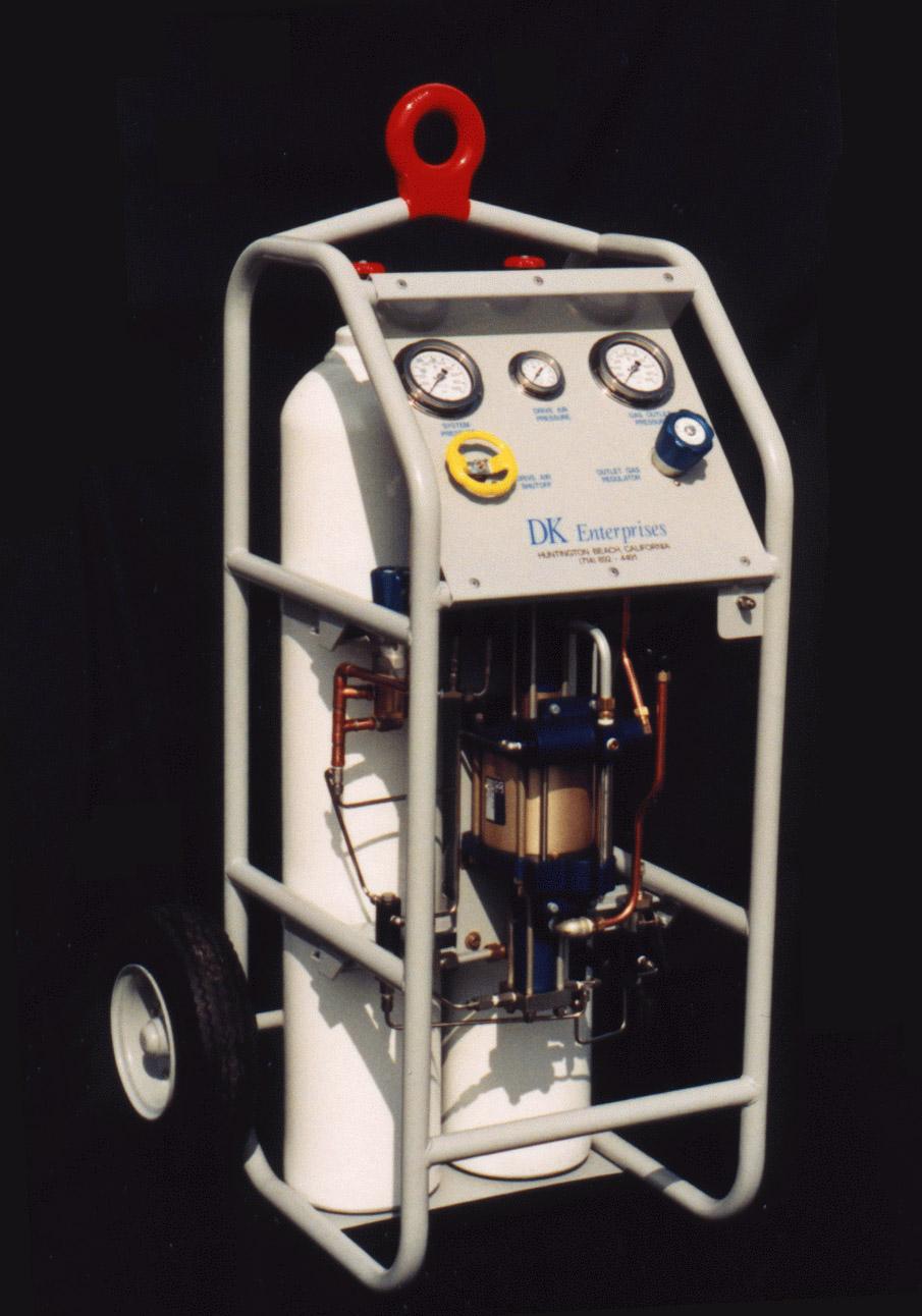 Oxygen Bottle Cart - 2 Bottle